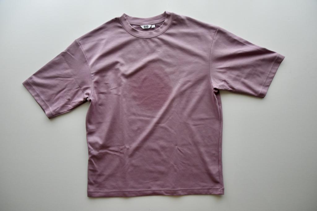 「エアリズムコットンオーバーサイズTシャツ」は速乾性もいまいち