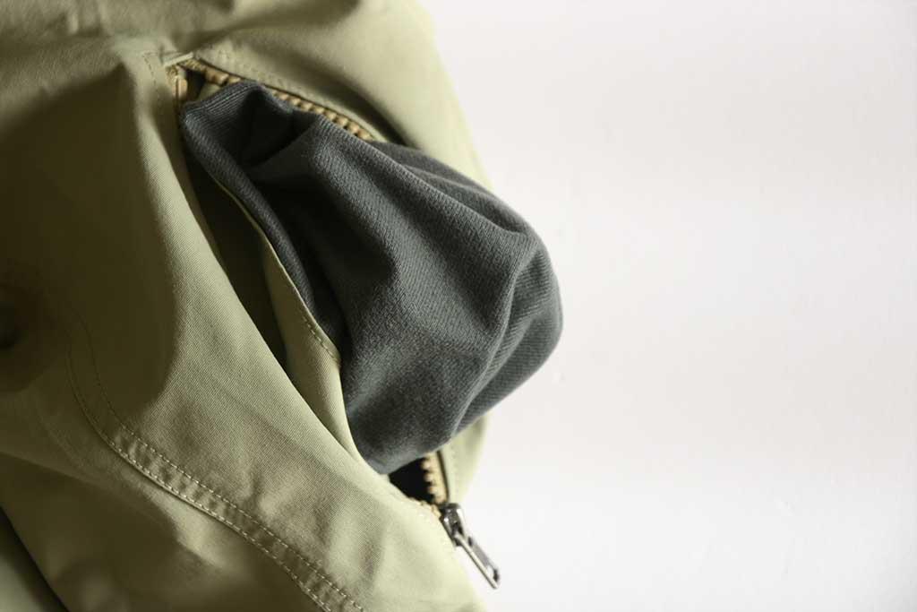 パタゴニア「バギーズ・ジャケット」のポケット